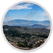 Sonoran Cliff Lookout Round Beach Towel