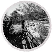 Sonoran Ghost Corral Round Beach Towel