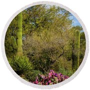 Sonoran Holiday Round Beach Towel