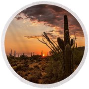 Sonoran Summer  Round Beach Towel