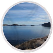 Soon Afternoon Round Beach Towel