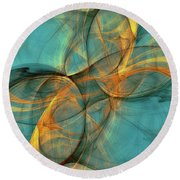 Soothing Blue Round Beach Towel