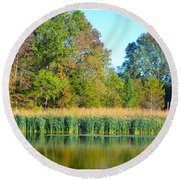 Soothing Reflections Round Beach Towel