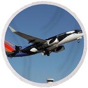 Soouthwest Airlines 737-700 Round Beach Towel