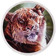 Sophie The Liger Round Beach Towel