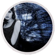 Sophisticated Woman Round Beach Towel