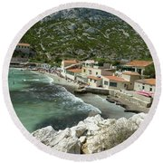 Sormiou Creek In The Calanque Round Beach Towel