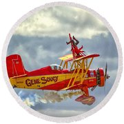Soucy In Flight Round Beach Towel