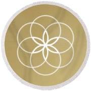 Soul Creation Round Beach Towel