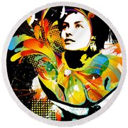 Soul Explosion II Round Beach Towel