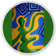 Soul Figures 1 Round Beach Towel