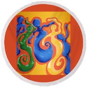 Soul Figures 3 Round Beach Towel