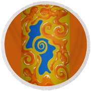 Soul Figures 5 Round Beach Towel