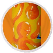 Soul Figures 6 Round Beach Towel