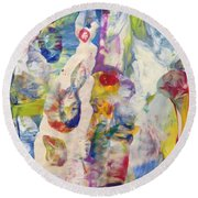 Soul Filled Round Beach Towel