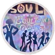 Soul Train 1 Round Beach Towel