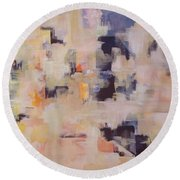Soulclouds Top Of The City Round Beach Towel