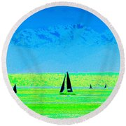 Sound Sailin Round Beach Towel