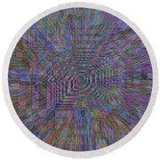 Sound Waves Round Beach Towel