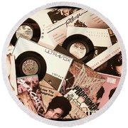 Sounds Of Then - Remembering The 80s I Round Beach Towel