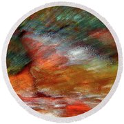 Sounds Of Thunder Abstract Round Beach Towel