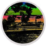 Soundside Treehouse View Round Beach Towel