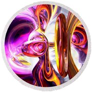 Soundwave Abstract Round Beach Towel