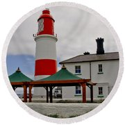 Souter From Marsden. Round Beach Towel