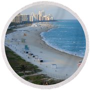 South Beach At Its Best Round Beach Towel