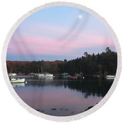 South Bristol Sunset Round Beach Towel