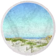 South Carolina Beach Round Beach Towel