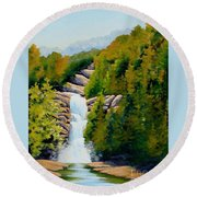 South Carolina Waterfall Round Beach Towel