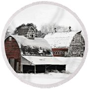 South Dakota Farm Round Beach Towel