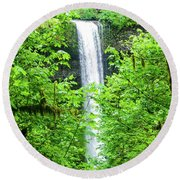 South Falls Round Beach Towel