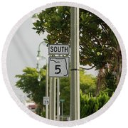 South  Florida 5 Round Beach Towel