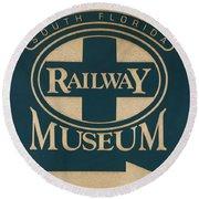 South Florida Railway Museum Round Beach Towel