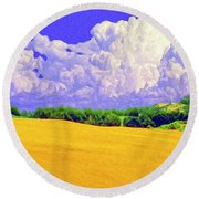 South Forty Round Beach Towel