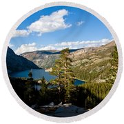 South Lake From Above Round Beach Towel