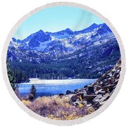 South Lake Round Beach Towel