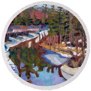 South Magnetawan Midday Round Beach Towel