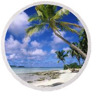 South Pacific Round Beach Towel