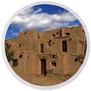 South Pueblo Taos Round Beach Towel