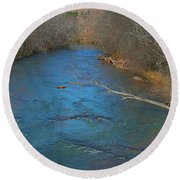 South River Round Beach Towel