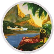 South Sea Isles Round Beach Towel