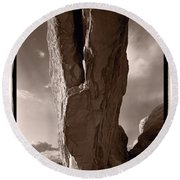 South Window Arch Arches National Park Round Beach Towel
