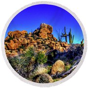 Southbound On Us 93 Round Beach Towel