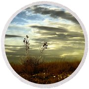 Southeastern New Mexico Round Beach Towel