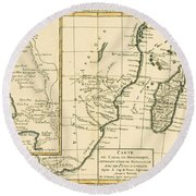 Southern Africa Round Beach Towel