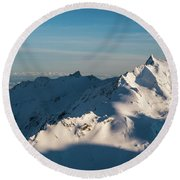 Southern Alps Round Beach Towel