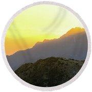 Southern Alps Sunrise Round Beach Towel